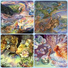 Josephine Wall These are a few of the images that Buffalo Games is going to make as puzzles this year Josephine Wall, Collage Artists, Magical Creatures, Fantastic Art, Art Google, Faeries, Mother Earth, Beautiful Pictures, Images