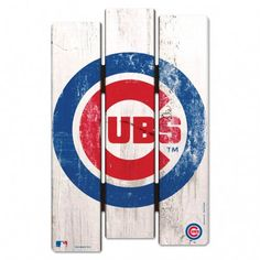"Chicago Cubs Wood Fence Sign  Style Number: 01854115  Chicago Cubs  A Cubs fan cave is not complete without this Chicago Cubs Wood Fence Sign.  Made with 3/8"" hardboard, this sign is perfect for any true fan.  The Chicago Cubs Wood Fence Sign also has a real fence feel and has bold team graphics that will stand out.   	3/8"" Thick 	Made from hardboard 	Officially team licensed 	Made in the USA 	Real fence feel 	Bold team graphics"