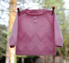 layette brassière 3 mois en mérinos rose neuf tricoté main