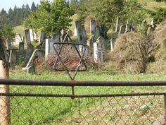 Gate of an abandoned Jewish Cemetery north Gura Humorului, Romania