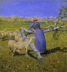 Giovanni Segantini - An Afternoon in the Alps