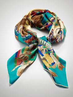 Moccasin-Print Silk Scarf - Hats, Gloves & Scarves  Women - RalphLauren.com