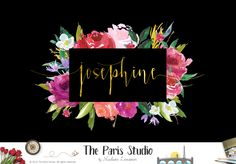 Floral Watercolor Logo Design - website logo, boutique logo, creative business…