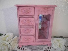 Pink Jewelry Box Rustic Shabby Chic French Country Farmhouse Southern ...