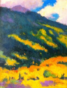 SUSAN GREAVES LISTED ARTIST NEW OIL UNFRAMED ASPEN NEAR OURAY SILVERTON COLORADO #Impressionism  SOLD