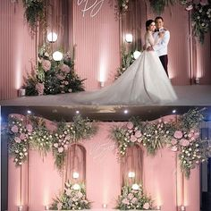 Wedding Backdrop Design, Wedding Reception Backdrop, Wedding Decorations On A Budget, Wedding Stage, Dream Wedding, Gold Wedding Colors, Floral Wedding, Wedding Flowers, Luxury Wedding Decor
