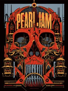 Pearl Jam Vancouver Poster by Ken Taylor
