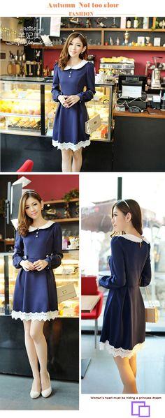 2013 Autumn Fashion Collection Dress QT98230 - Dresses - korean japan fashion clothes dresses wholesale women