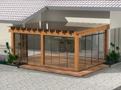 The pergola kits are the easiest and quickest way to build a garden pergola. There are lots of do it yourself pergola kits available to you so that anyone could easily put them together to construct a new structure at their backyard. House Exterior, House Design, Pergola Designs, Terrace Design, Diy Pergola, House Extensions