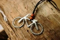 Bicicleta - www.artisticshop.gr Metallica, Washer Necklace, Jewelry Box, Earrings, Handmade, Necklaces, Bicycles, Ear Rings, Hand Made