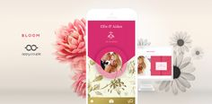 Love the new designs from Appy Couple for a stylish wedding app + website!
