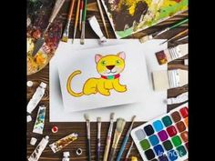 "For the beginners how to draw a cat from ""C"", ""A"", ""T""...by Pankaj Karmakar - YouTube Simple Cat Drawing, Easy Painting For Kids, Easy Paintings, Make It Yourself, Drawings, Cats, Youtube, Sketches, Gatos"