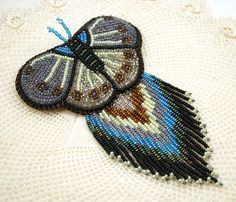 beaded Barrettes | Beaded Barrette Sead Bead Embroidery Beadwork by Laeclectica, $80.00