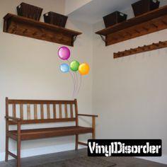 Full Color Balloon Vinyl Wall Decal or Car Sticker Balloons BA010