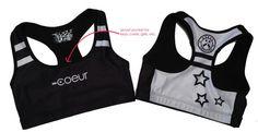 Sports Bra from Coeur Sports in Supernova design.  #triathlon #triathlongear #activewear #running #sports #sportsbra