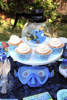 Does your child want a Finding Dory Birthday Party this year? Check out these 40 Finding Dory Birthday Party Ideas that will wow your party guests. 1st Boy Birthday, Boy Birthday Parties, Birthday Ideas, Mickey Birthday, Birthday Cupcakes, Birthday Decorations, Finding Dory, Party Ideas, Names Baby