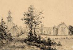 Beekbergen, gemeente Apeldoorn. Dorpstraat met kerk. #codaapeldoorn
