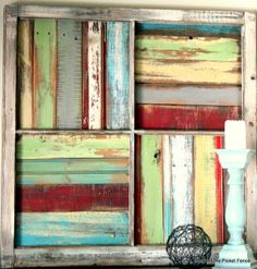 wood pallet projects - Google Search.  I want to use these colors for the tables dad made in the kids den.