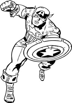 Free & Easy To Print Captain America Coloring Pages - Tulamama Superhero Coloring Pages, Lego Coloring Pages, Coloring Sheets For Kids, Coloring Pages To Print, Free Printable Coloring Pages, Captain America Motorcycle, Captain America Coloring Pages, Superman, Kids Pages