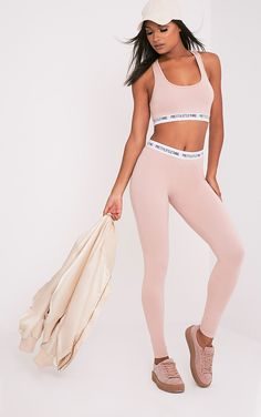 Pretty Little Thing Nude Leggings Image 1