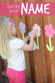 Toddler Approved!: Spray Your Name Game