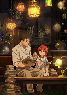 """The Ancient Magus' Bride"" (魔法使いの嫁 Mahō Tsukai no Yome) is a Japanese fantasy shōnen manga series written and illustrated by Kore Yamazaki. The series is published in Japan by Mag Garden in its Monthly Comic Garden magazine. A three-part prequel. Manga Anime, Anime Art, Hoshi Matsu Hito, Magus Bride Manga, Kore Yamazaki, Chise Hatori, Elias Ainsworth, Tamako Love Story, The Ancient Magus Bride"