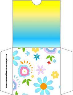 Flores en amarillo y azul claro - Kit completo con los marcos para las invitaciones, las etiquetas de los snacks, souvenirs y fotos! | Hacer Nuestro partido