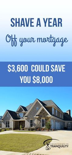 Shave a year off your mortgage Just 3600 could save you 8000 Home mortgage tips Prepaying loans Mortgage Humor, Mortgage Tips, Mortgage Quotes, Ways To Save Money, Money Saving Tips, Managing Money, Money Tips, Low Interest Loans, Get Out Of Debt