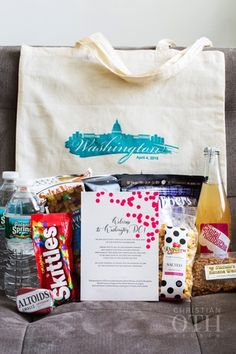 WASHINGTON DC-THEMED WELCOME BAG & NOTE FOR GUESTS STAYING AT THE HOTEL