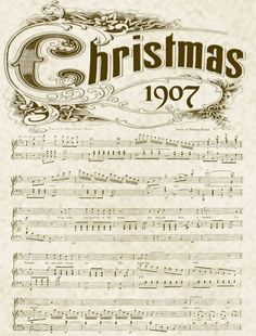 8 Best Images of Old Christmas Sheet Music Printables - Printable Vintage Christmas Sheet Music, Printable Vintage Christmas Music and Free Printable Vintage Christmas Sheet Music Christmas Sheet Music, Noel Christmas, Christmas Countdown, Christmas Images, Winter Christmas, All Things Christmas, Vintage Christmas, Xmas, Christmas Ornament