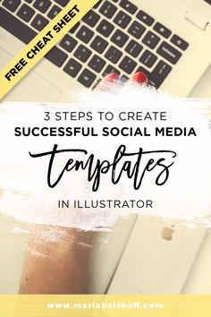 Creating an Illustrator template for my social media graphics has been a  total life saver! Not having to recreate a brand new graphic every single  time I publish a new blog post saves me 30 minutes every. single. time. You  need a template too – so follow these three simple steps to create them!