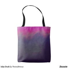 Inky Dusk tote bag. A smoky inky blend of purple and pink
