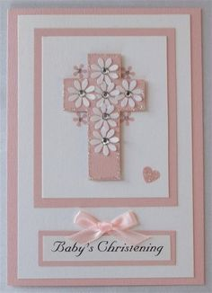 another baptism card idea  Une idee de carte pour une communion