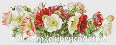 Alinti Buy 1 and Get 1 Free Coupon Poppies Cross Stitch Pattern Counted Cross Stitch Chart Needlecr Cross Stitch Rose, Cross Stitch Flowers, Counted Cross Stitch Patterns, Cross Stitch Embroidery, Art Et Illustration, Illustrations, Icelandic Poppies, Decoupage, Watercolor Flowers