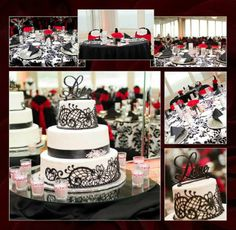 Wedding Bell Talk » Red & Black Table Decor   Dark Side ...