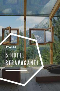 5 hotel stravaganti in cui andare in Italia. Hotel e Motel dal design particolare, fatti a sfera o addirittura completamente di cioccolato. Trova la tua vacanza ideale! In Italia ci sono delle bellezze uniche! #italia #hotelitalia #hotelparticolari #design #vacanza @iweekendieri