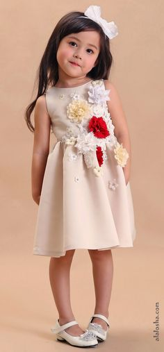 ALALOSHA: VOGUE ENFANTS: Must Have of the Day: A touch of delicate embellished detail creating a girlie and yet romantic feeling for a little girls dream by Dorian Ho