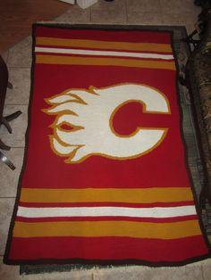 5 Calgary Flames Nhl Hockey Crochet Afghan Pattern