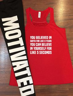Christmas Workout Shirt - Motivated Workout Leggings by Constantly Varied Gear