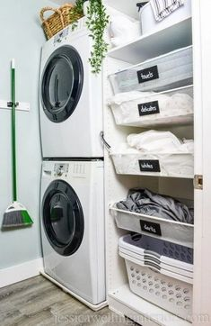 image of small laundry room with stacked washer and dryer and ikea pax hack Laundry Room Makeover!image of small laundry room with stacked washer and dryer and ikea pax hack are several task Tiny Laundry Rooms, Laundry Room Remodel, Basement Laundry, Laundry Room Design, Small Laundry Closet, Bathroom Laundry, Outdoor Laundry Rooms, Small Laundry Space, Laundry Room Pedestal