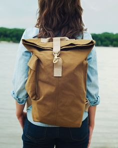 Talant Day Bag USA Made Canvas Backpack by TalantTrade on Etsy, $179.99