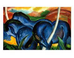 The Large Blue Horses, 1911 by Franz Marc. Art print from Jody Turner's Inspiring Insider galleries on Art.com.