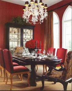Eye For Design Red Interiors Are FabulousEspecially At Christmas
