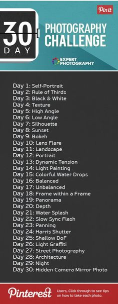 This is my 30 day photography challenge, where I challenge you to take a different photo for your project, for the next month. Improve today