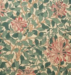 Antique Wallpaper, Lit Wallpaper, William Morris Tapet, Pink And Green Wallpaper, Motifs Art Nouveau, Shabby Chic Colors, Love Lily, Motif Design, Pattern Designs