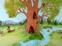 Ζωγραφική σε παιδικό δωμάτιο: Δάσος