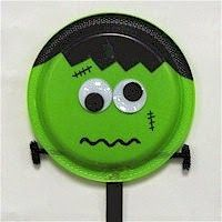 How cute is this little Frankenstein paper plate? Kids will have so much fun making this they will totally forget heu0027s a monster! A great kidu0027s project for ... & We made some more paper plate hats for Halloween. | Craft for kids ...
