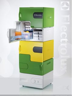 official photos 323d1 f4bde Flatshare Fridge We re enamored with this modular refrigerator concept.  It s called the Flatshare Fridge, a finalist in the Electrolux Design Lab  2008 ...