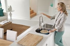 Arbor with MotionSense Spot resist stainless one-handle high arc pulldown kitchen faucet - 7594ESRS