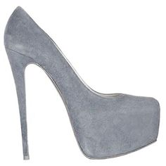 Christian Louboutin Malls Daffodile 160mm Suede Pumps Gray